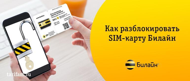 Как разблокировать SIM-карту Билайн — 5 рабочих способов